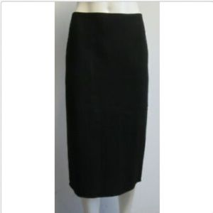 RALPH LAUREN PURPLE LABEL Black Pencil Skirt  SZ 8
